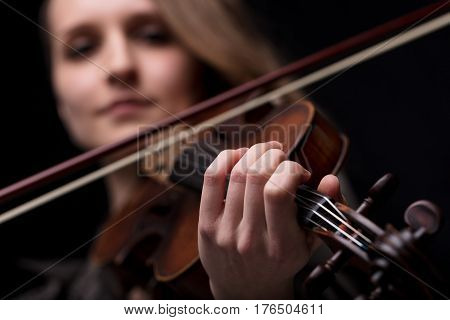 Hand Of A Violinist Playing