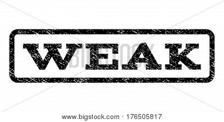 Weak watermark stamp. Text tag inside rounded rectangle with grunge design style. Rubber seal stamp with dirty texture. Vector black ink imprint on a white background.