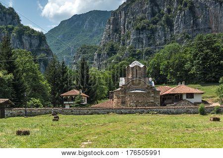 Amazing view of medieval Poganovo Monastery of St. John the Theologian, Serbia