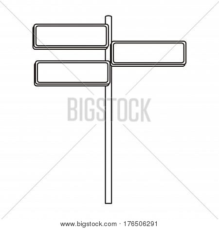 silhouette multidirectional metallic plaque sign post set vector illustration
