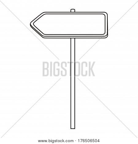 silhouette metallic left direction board road signs vector illustration