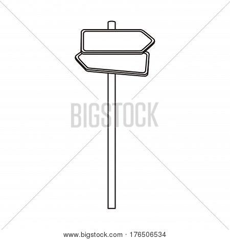 silhouette metallic multidirection board road signs set vector illustration