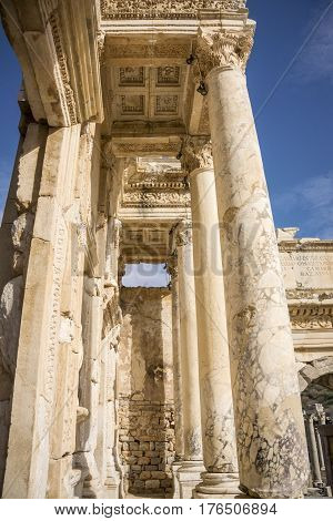 Unesco Heritage Site Of The Ancient City Of Ephesus, Selcuk, Turkey