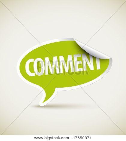 Comment speech bubble