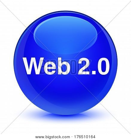 Web 2.0 Glassy Blue Round Button