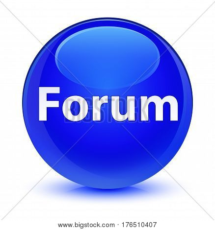 Forum Glassy Blue Round Button