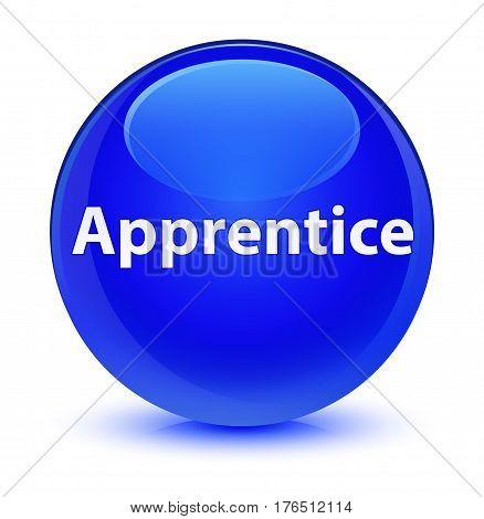Apprentice Glassy Blue Round Button
