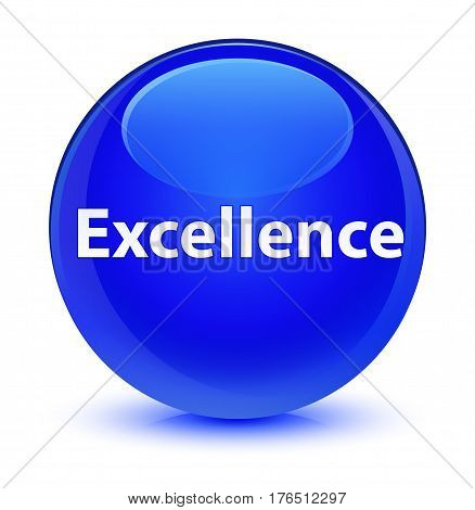 Excellence Glassy Blue Round Button