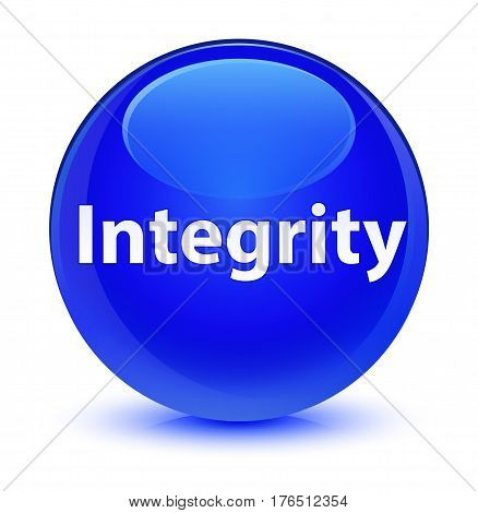 Integrity Glassy Blue Round Button