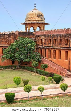 Charbagh Garden In Jaigarh Fort Near Jaipur, Rajasthan, India