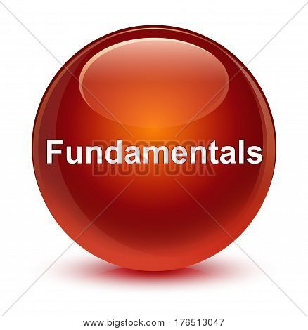Fundamentals Glassy Brown Round Button