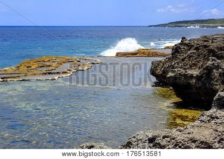 Coastline On The Southern Part Of Tongatapu Island In Tonga