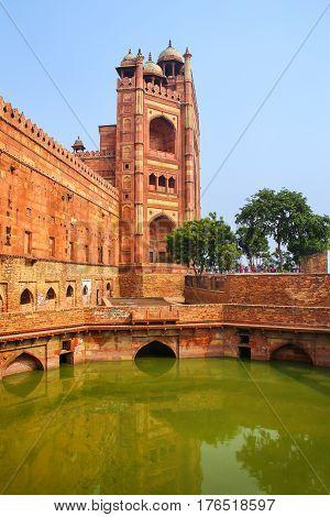Buland Darwasa (victory Gate) Leading To Jama Masjid In Fatehpur Sikri, Uttar Pradesh, India