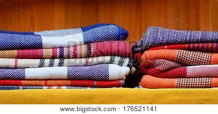 Textile At The Local Market In Hunan, China