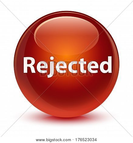 Rejected Glassy Brown Round Button