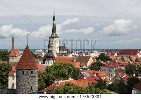 View of the rooftops of Tallinn, Estonia