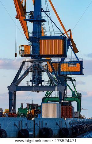 Yellow Cargo Cranes