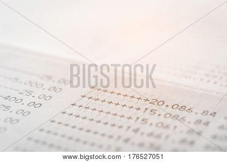 close up saving account book , saving concept