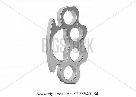 Brass knuckles closeup 3D rendering isolated on white background