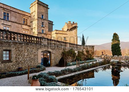 Medieval Castle of Lourmarin. First Renaissance castle built in Provence. Provence-Alpes-Cote d'Azur. France