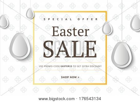 Creative Easter Abstract Social Media Web Banners For Cell Phone Or Newsletter Ad. Email Holiday Pro