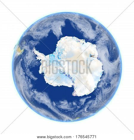 Antarctic On Earth Isolated On White