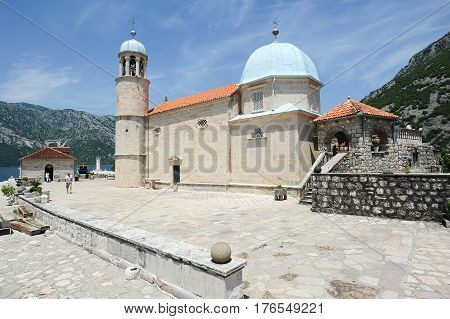 Our Lady Of The Rock Island On Kotor Bay
