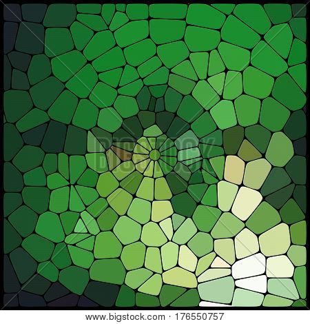 Abstract Green Mosaic Pattern. Abstract Background Consisting Of Elements Of Different Shapes Arrang