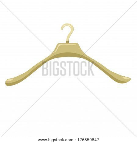 coat hanger the close up. vector illustration