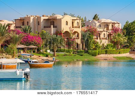 View of El Gouna resort. Egypt North Africa