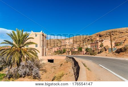 View of Kalaat M'Gouna, a town in the Valley of Roses, Morocco