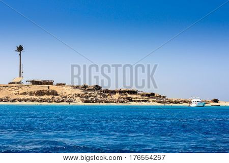 Deserted Beach Landscape, View From Boat