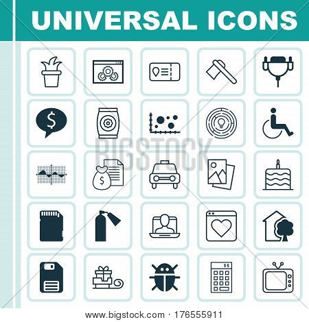 Set Of 25 Universal Editable Icons. Can Be Used For Web, Mobile And App Design. Includes Elements Such As Business Deal, House, Innovation And More.