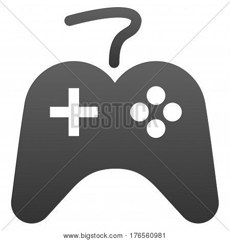 Gamepad vector icon. Flat symbol with gradient. Pictogram is isolated on a white background. Designed for web and software interfaces.