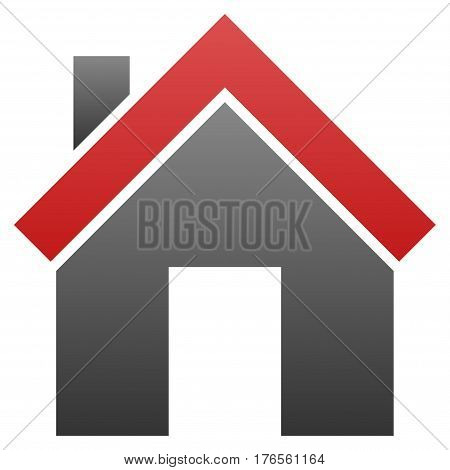 Home vector icon. Flat symbol with gradient. Pictogram is isolated on a white background. Designed for web and software interfaces.