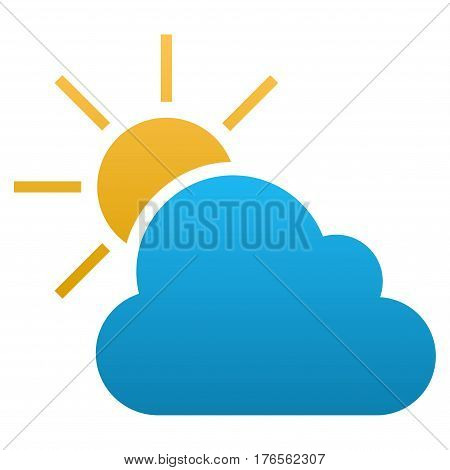 Weather vector icon. Flat symbol with gradient. Pictogram is isolated on a white background. Designed for web and software interfaces.
