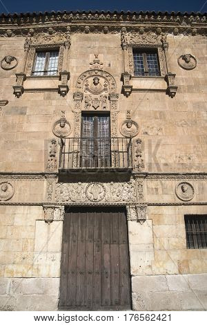 Salamanca (Castilla y Leon Spain): facade of the historic building known as Palacio de Monterrey