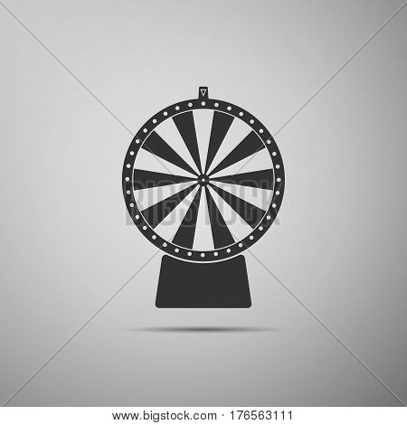 Lucky wheel flat icon on grey background. Vector Illustration