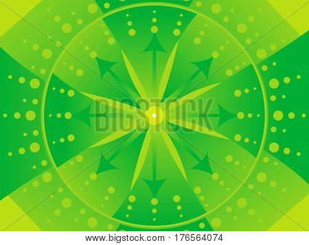 abstract artistic detailed green background vector illustration