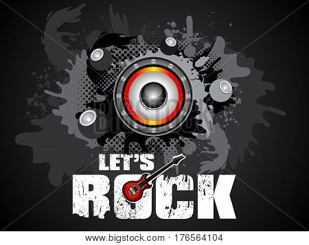 abstract artistic lets rock background vector illustration