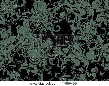 Marbling Seamless Pattern. Marbled Paper Watercolor. Drawing On The Water. Grunge Textures. Vector I