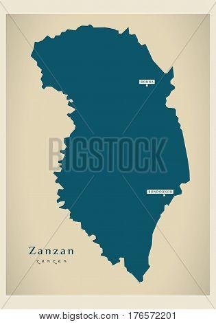 Modern Map - Zanzan Ci Illustration Silhouette