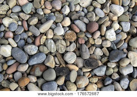Horizontal image of colorful rock background in many shapes and sizes