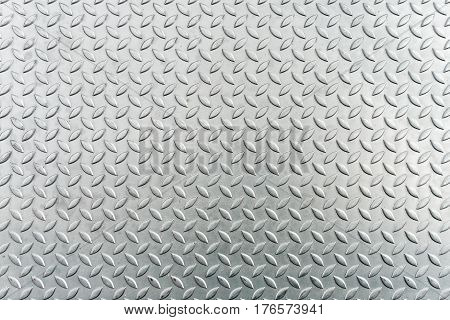 Steel checkerplate metal sheet Metal sheet texture background.