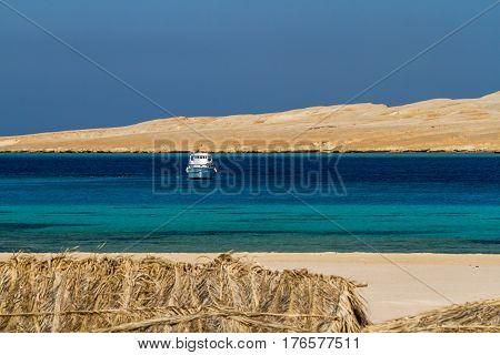 Dreamlike beauty of a tropical island in Egypt