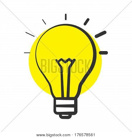 Good idea color icon. Light bulb. Eureka. Isolated vector illustration