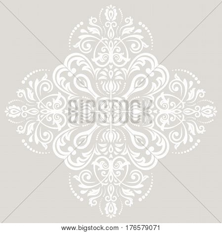 Elegant light ornament in the style of barogue. Abstract traditional pattern with oriental elements