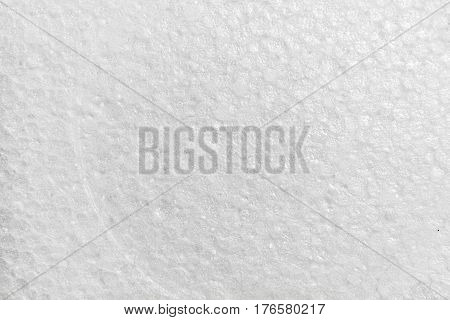 Flat texture of white expanded polystyrene .