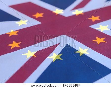 Union Jack And Europe Flag Superimposed