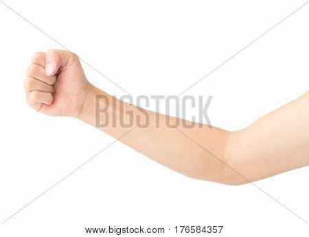 Man arm with blood veins on white background health care and medical concept